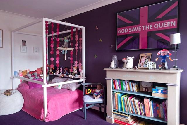 комната для девочки, комната в розовом, интерьер для девочки