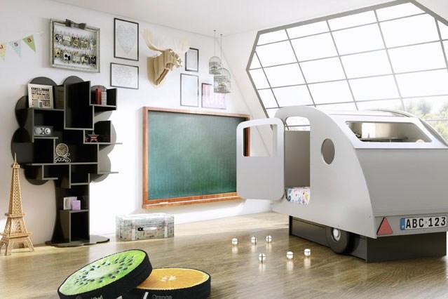 необычные кровати для детей, кровать машинка, кровать тачки