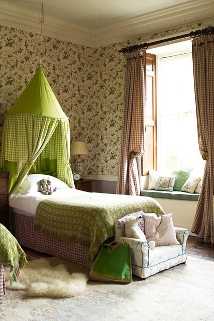 кровать с балдахином, детский балдахин, стильная детская