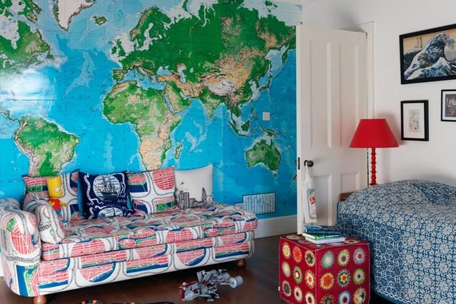 карта мира в детскую, карта на стену