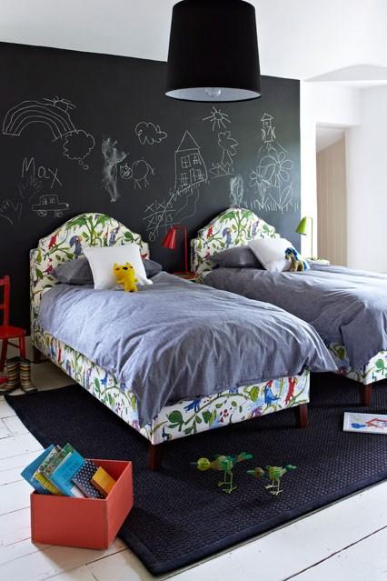 доска для мела в детскую комнату, стены в детской