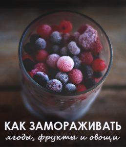 заморозка ягод и фруктов на зиму