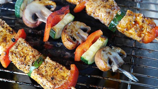 рецепт шашлыка с овощами