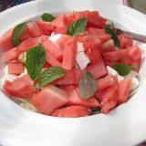 салат из арбуза с сыром