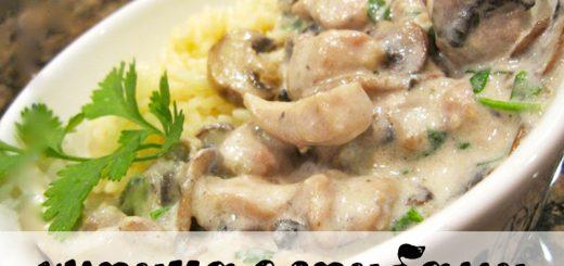 Рецепт курицы с грибами в сметанном соусе